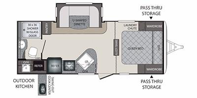 2015 KEYSTONE PREMIER 22RBPR (couples) Floorplan