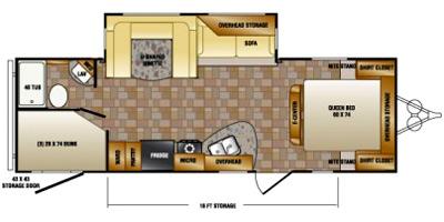 2015 CROSSROADS ZINGER 26DT (bunks) Floorplan