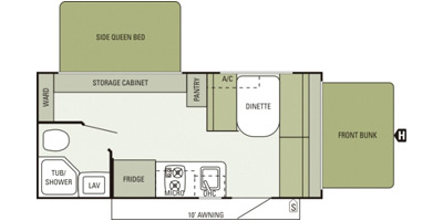 2014 STARCRAFT LAUNCH 17SB (bunks) Floorplan
