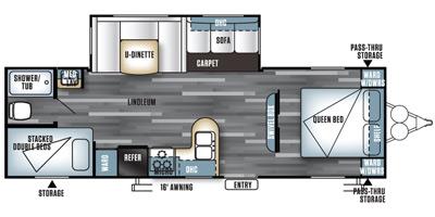 2016 FOREST RIVER SALEM 27DBUD (bunks) Floorplan