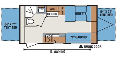 2017 K-Z INC. SPORTSMEN CLASSIC 18RBT (bunks) Floorplan