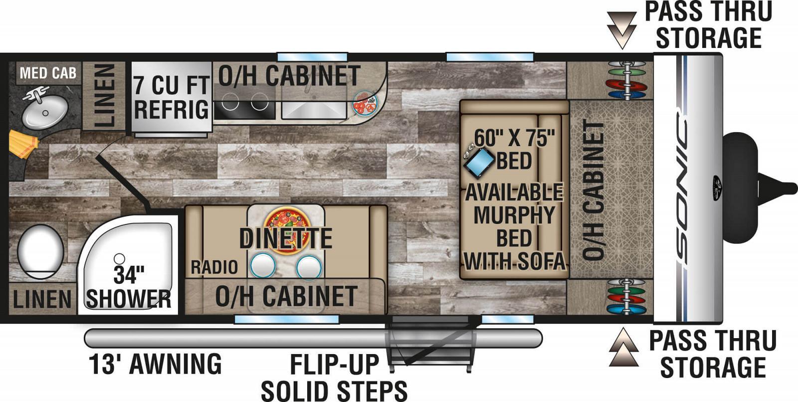2020 VENTURE SONIC 190VRB Floorplan