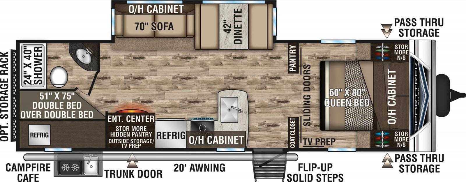 2020 VENTURE SPORTTREK 281VBH (bunks) Floorplan