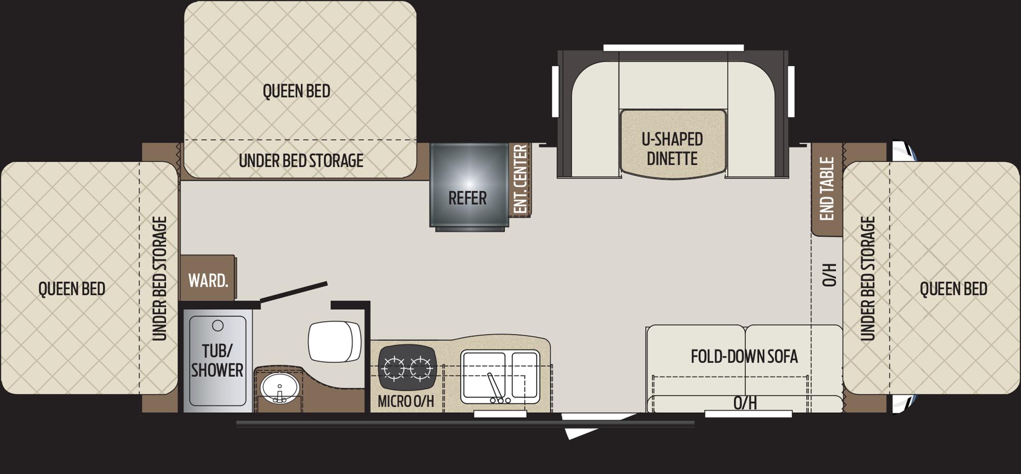 2019 KEYSTONE BULLET CROSSFIRE 2190EX (bunks) Floorplan