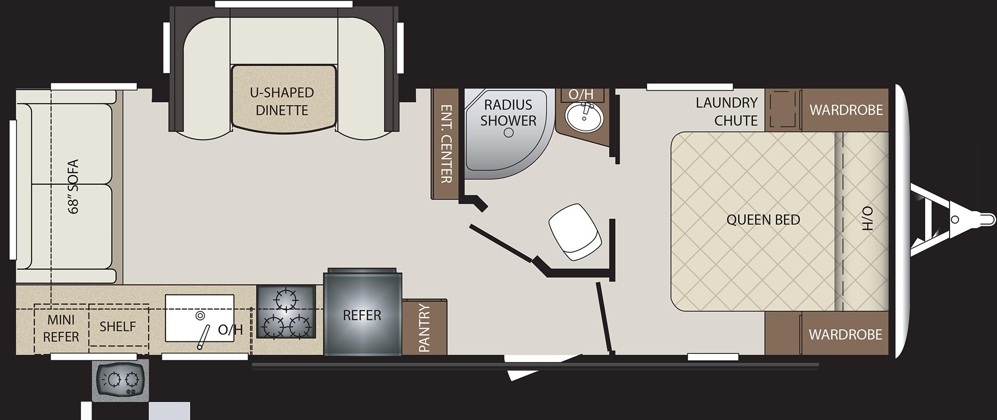 2019 KEYSTONE BULLET 257RSS (couples) Floorplan