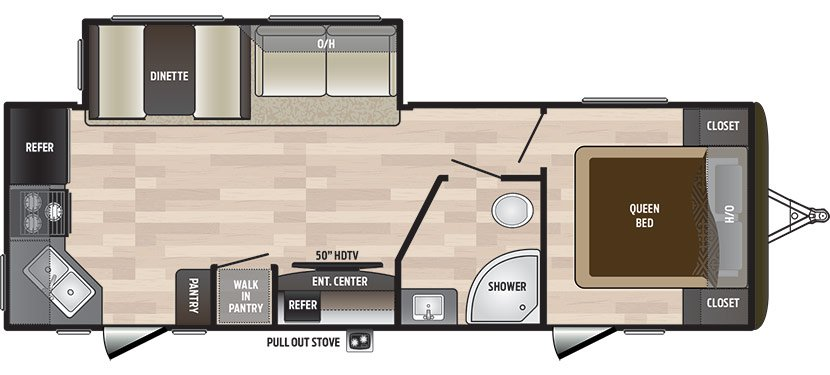 2018 KEYSTONE HIDEOUT LHS 258LHS (couples) Floorplan