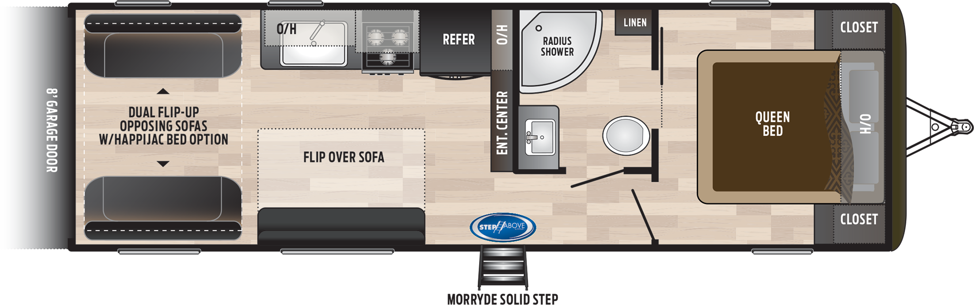 2019 KEYSTONE HIDEOUT 25TH (bunks) Floorplan