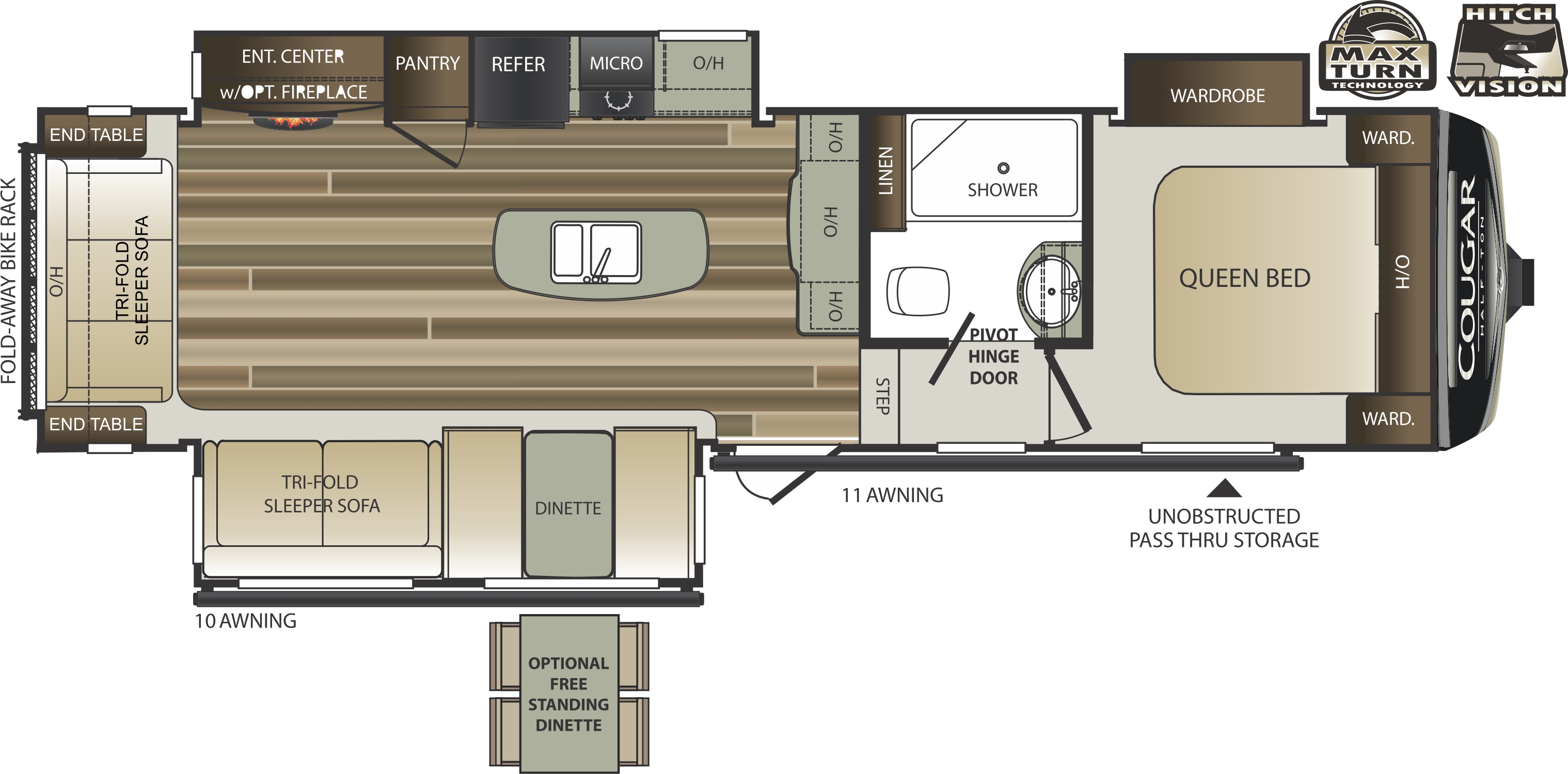100 100 keystone rv floor plans keystone hideout rvs for Floor plans 5th wheel campers