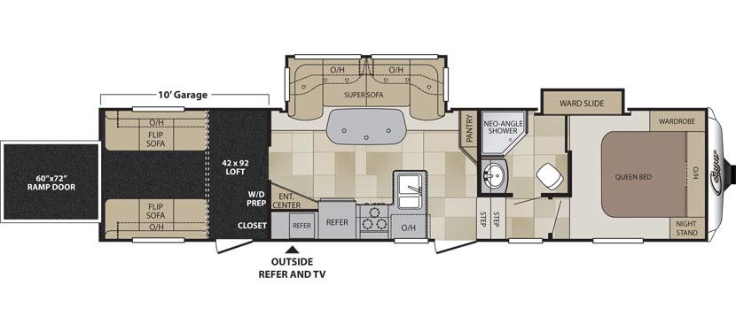 2017 KEYSTONE COUGAR 326SRX Floorplan
