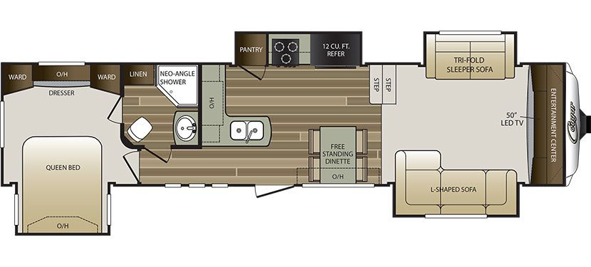 2017 KEYSTONE RV COUGAR 337FLS (couples) - Floorplan