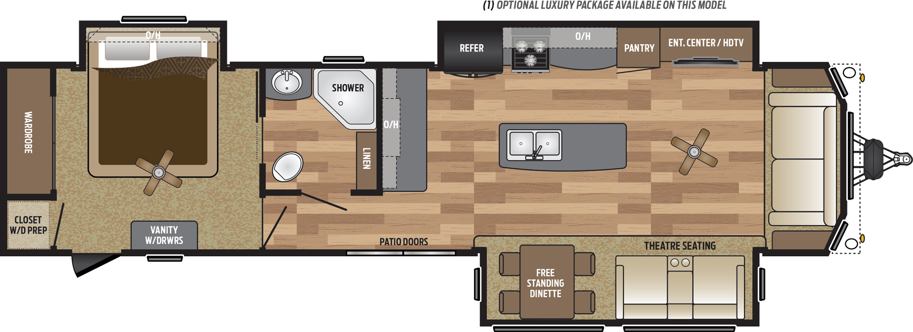 2019 KEYSTONE RETREAT 39MKTS (couples) Floorplan
