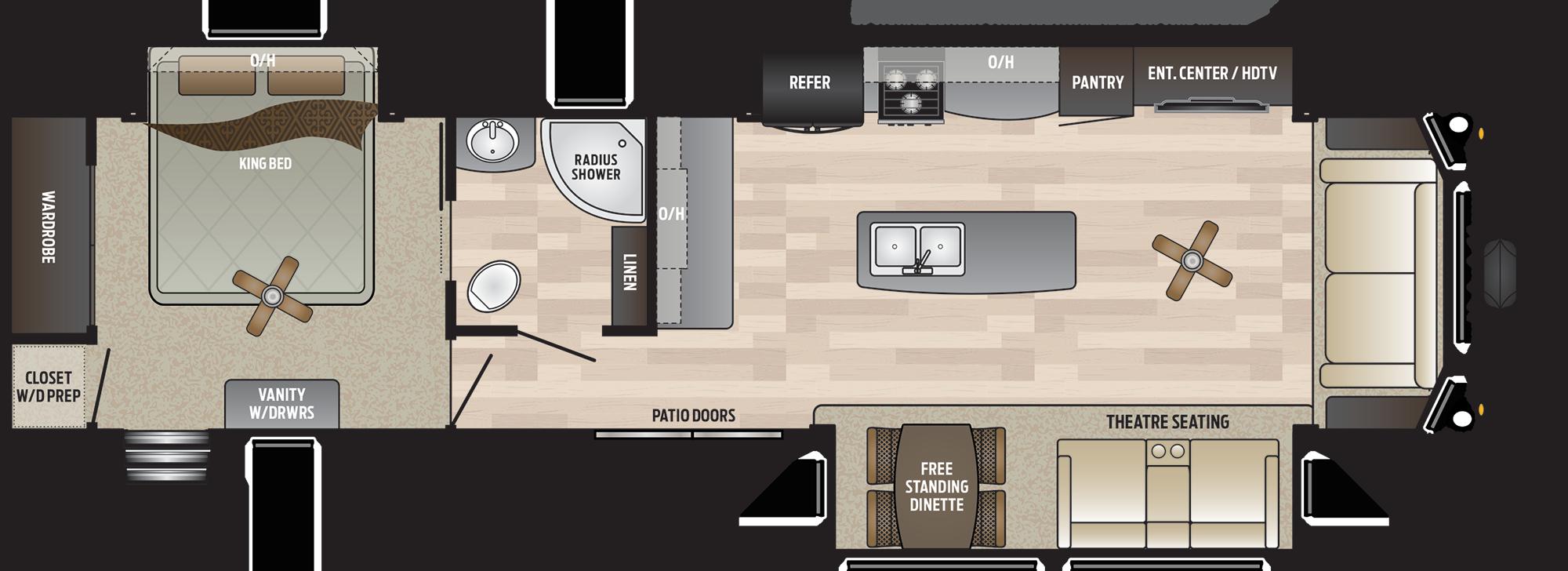 2019 KEYSTONE RETREAT 39MKTS (couples) Floorplan