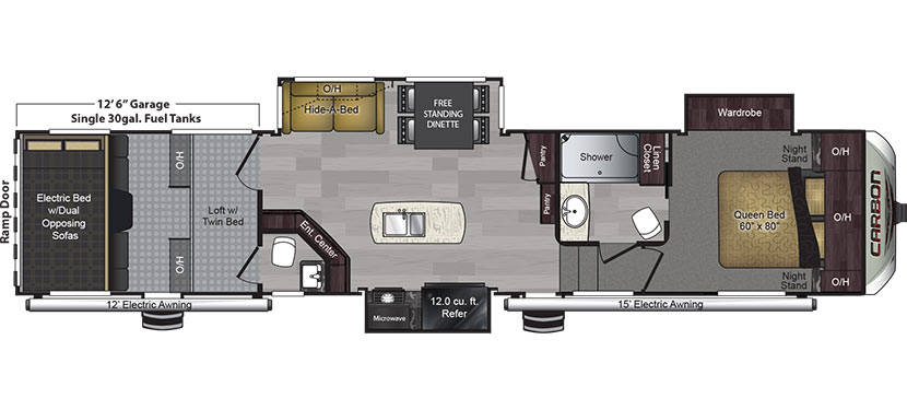 2017 KEYSTONE CARBON 417 - Floorplan