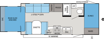 2012 JAYCO JAYFEATHER X213 (bunks) Floorplan