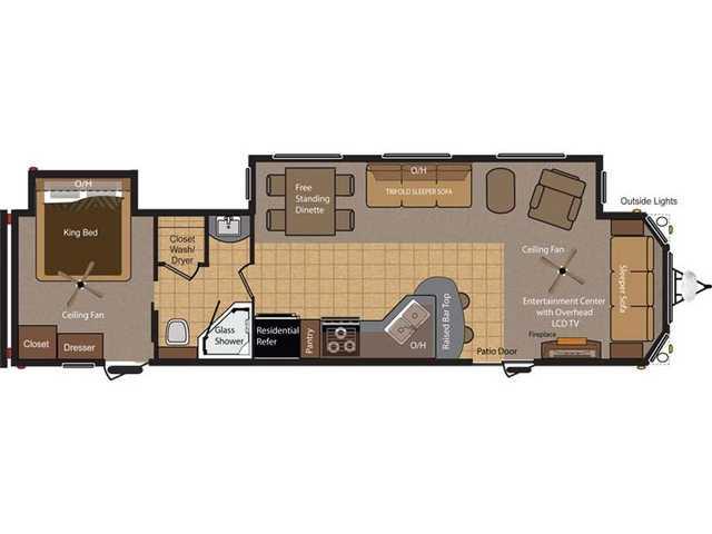 2014 KEYSTONE RETREAT 39FDEN Floorplan