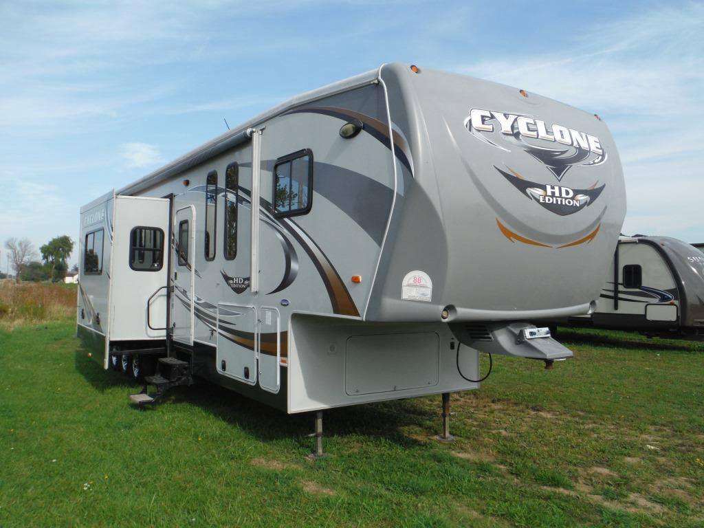 Frontal View of a 2011 HEARTLAND Cyclone, 3950HD