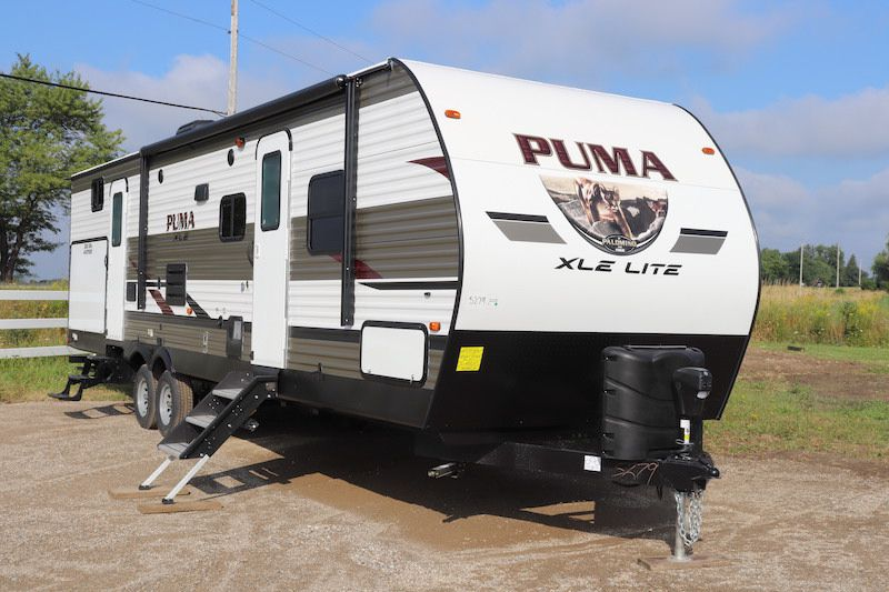 Frontal View of a 2020 FOREST RIVER Puma XLE, 31BHSC