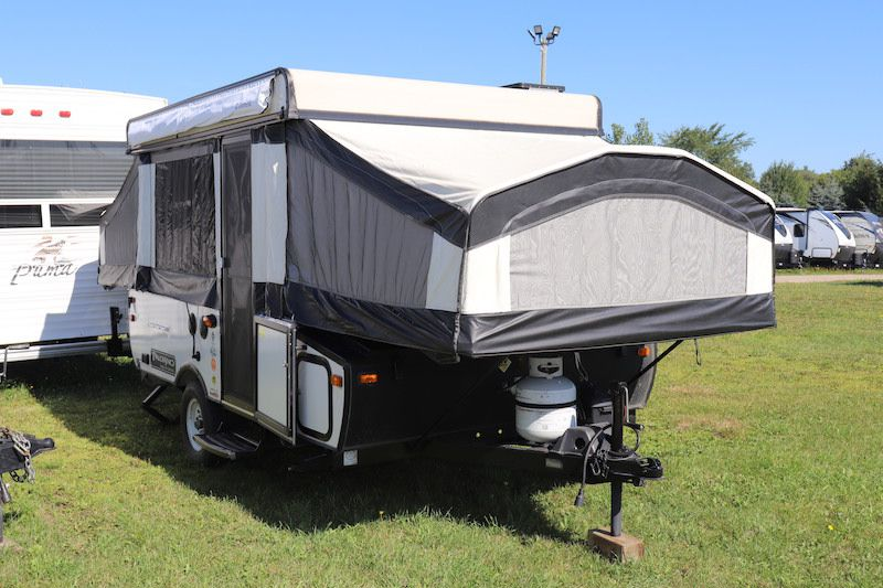 Frontal View of a 2015 FOREST RIVER Basecamp, 10DFG