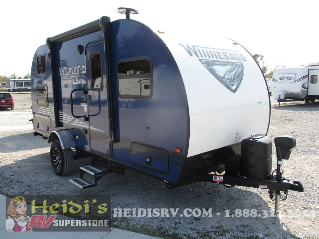 2019 WINNEBAGO WINNEBAGO MINNIE DROP 190BH (BLUE, BUNKS, OUTSIDE KITCHEN)