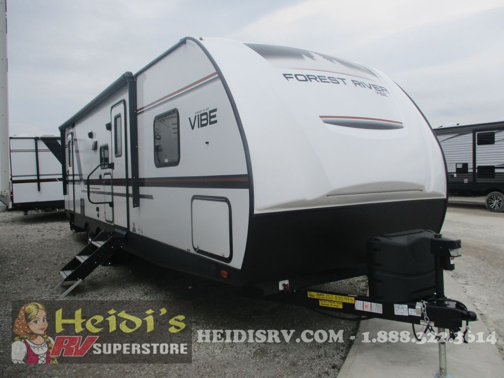 2019 VIBE FOREST RIVER 26BH - DBL/DBL BUNKS, OUTSIDE KITCHEN
