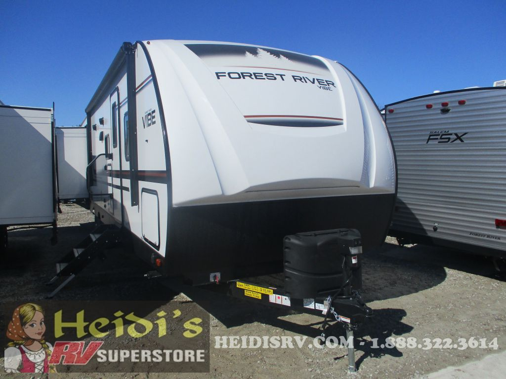2019 FOREST RIVER VIBE 33BH - QUAD BUNKS, OUTSIDE KITCHEN