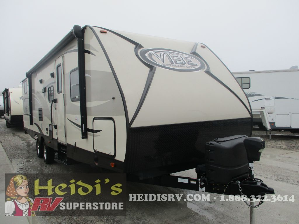 2016 VIBE FOREST RIVER 287QBS - QUAD BUNKS, OUTSIDE KITCHEN