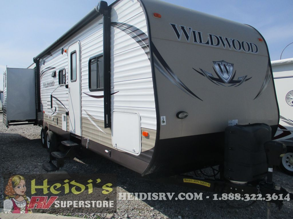 2014 WILDWOOD FOREST RIVER 31QBTS - QUAD BUNKS