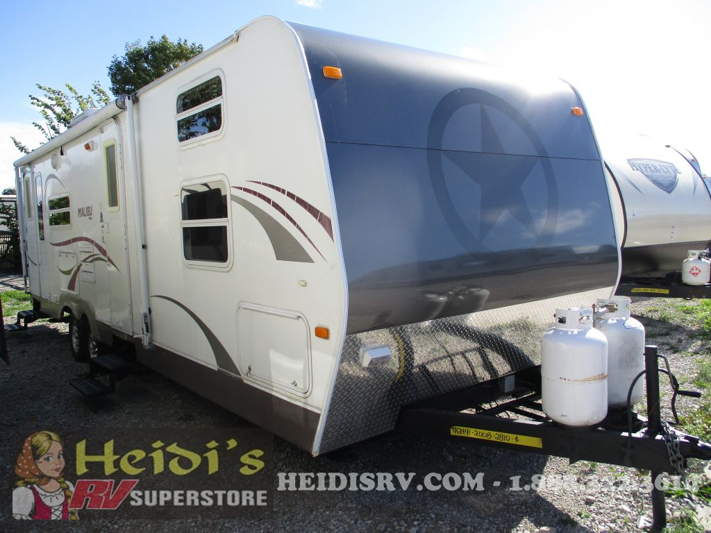 2008 SKYLINE RV MALIBU 2810 - HARD SLIDE, QUAD BUNKS, OUT, KIT.
