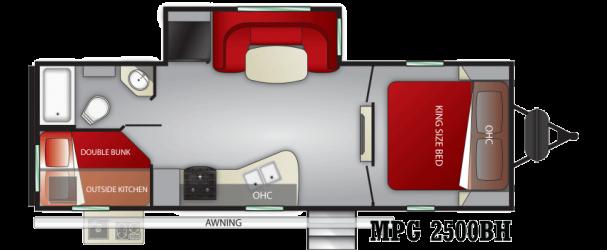 2020 CRUISER RV MPG 2500 BH