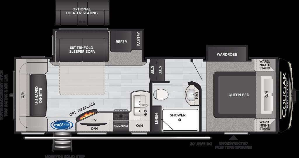 2021 KEYSTONE COUGAR HALF-TON 24RDS