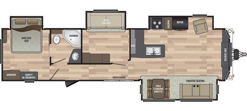 new 2018 keystone retreat 391mbnk park model