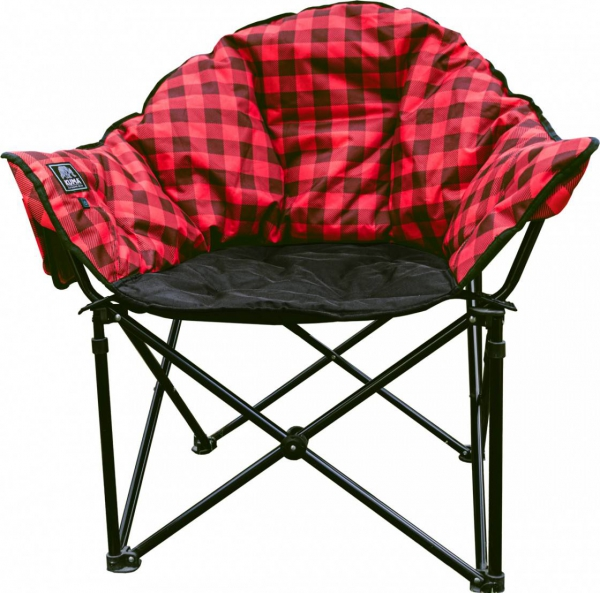 KUMA Lazy Bear Heated Chair Red Plaid