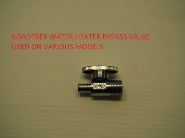 Roadtrek water heater by pass valve