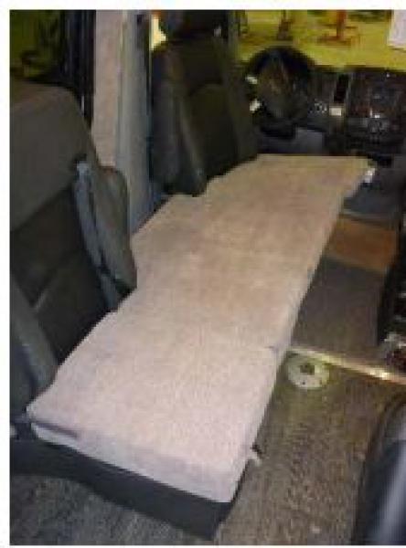 Roadtrek Sprinter passenger side folding mattress