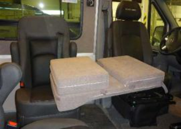 Roadtrek Sprinter passenger side folding mattress