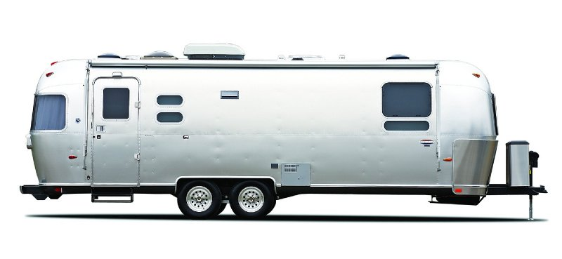 Frontal View of a 2014 AIRSTREAM 25FB, International Onyx