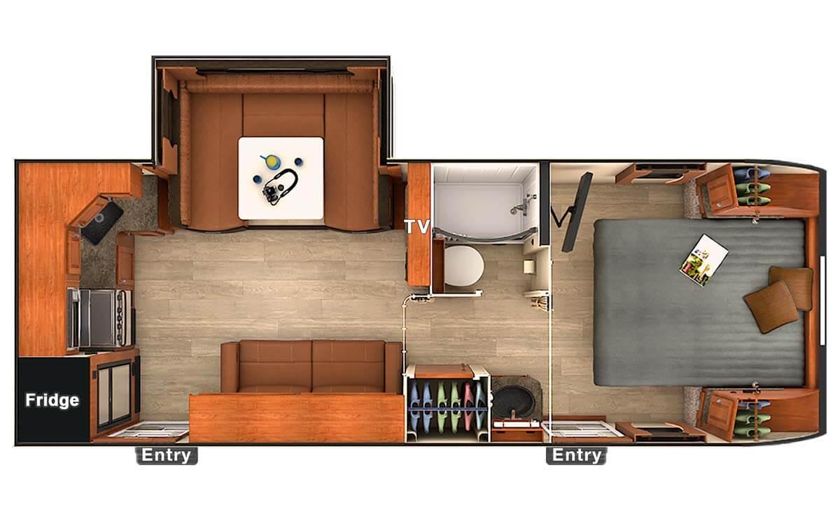 New 2018 lance lance 2285 travel trailer 544122 for 12 foot travel trailer floor plans