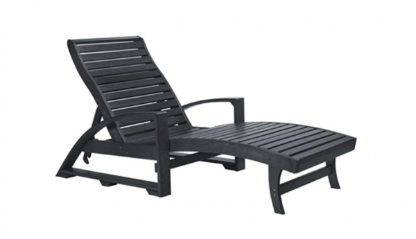 L38 Chaise Lounger (with Wheels)