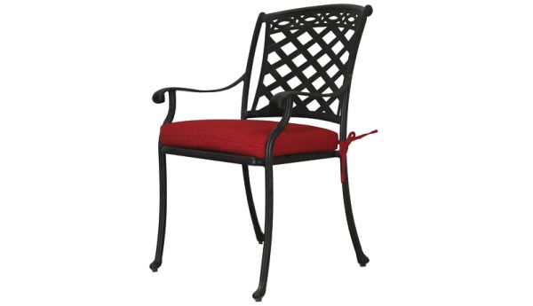Jordan Cast Wicker Cast Aluminum Dining Chairs