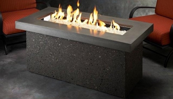 Key Largo Supercast Linear Gas Fire Pit Table