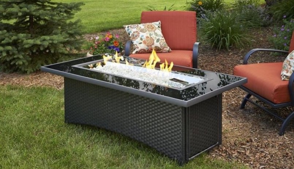 Montego Linear Gas Fire Pit Table