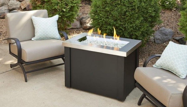 Providence Stainless Steel Gas Fire Pit Table