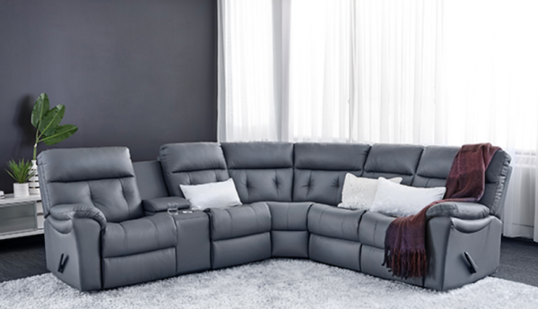 Jordan Cast & Wicker | Sabrina Reclining Sectional- 4005