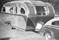 The Airfloat travel trailer