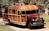 A beautifull example of a 1946 Wooden Motor Home
