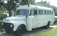 Ford bus converted to motorhome