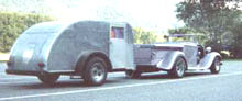 A Spencer Teardrop trailer