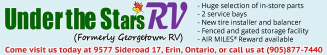 Visit Under the Star RV at Erin, Ontario