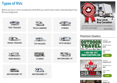 What Are The Various Types Of Rvs Rvhotline Com